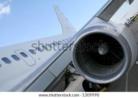 Turbine engine of plane