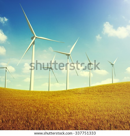 Turbine Green Energy Electricity Technology Concept