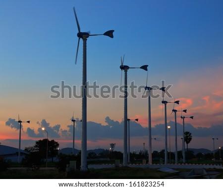 Turbine producing renewable energy, at Thailand. - stock photo