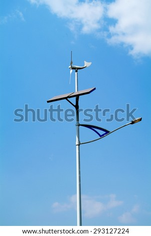 Turbine wind street lamp