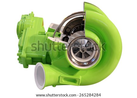 turbo charger isolated on white - stock photo