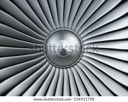 Turbo jet engine - stock photo