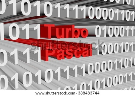 Turbo Pascal is presented in the form of binary code