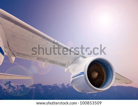 turbocharged airplane wing