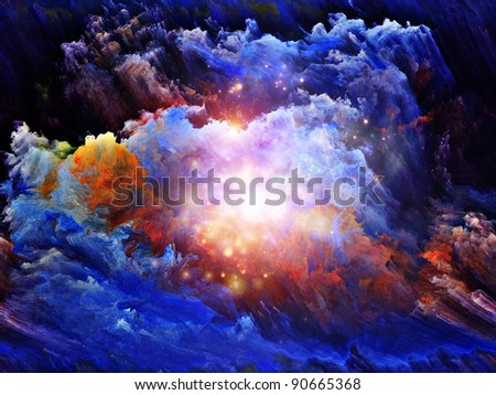 Turbulent digital paint on fractal canvas suitable as backdrop for projects on dreaming, fantasy, spirituality and abstract art