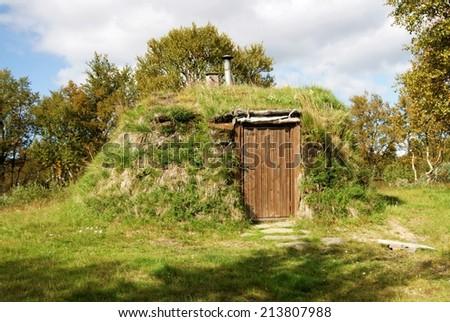 Turf hut - stock photo