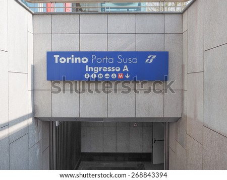 TURIN, ITALY - APRIL 11, 2015: The new Torino Porta Susa station is the main railway and subway station in town
