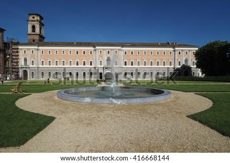 TURIN, ITALY - CIRCA MAY 2016: Giardini Reali, meaning Royal Gardens - stock photo