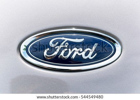 Ford logo stock images royalty free images vectors shutterstock turin italy june 9 2016 closeup of the ford logo on a voltagebd Choice Image