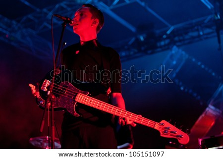 TURIN, ITALY - JUNE 08: The XX at Traffic Festival 2012 on June 08, 2012 Turin, Italy.