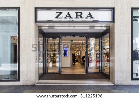 TURIN, ITALY  - JUNE 3, 2015: Zara shop in Turin, Italy, Australia. It is a company dedicated to the manufacturing of home textiles and was founded at 2003.