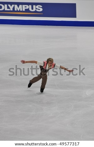 TURIN, ITALY - MARCH 25: Professional czechoslovakia skater Michal BREZINA perform free skating during the 2010 World Figure Skating Championship on March 25, 2010 in Turin, Italy.