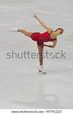 TURIN, ITALY - MARCH 27: Professional skater Laura LEPISTO from Finland performs free skating during the 2010 World Figure Skating Championship on March 27, 2010 in Turin, Italy.