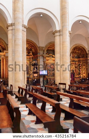 TURIN, ITALY - MAY 3, 2016: Interior of the Turin Cathedral (Duomo di Torino), built in 1470. It is the Chapel of the Holy Shroud (the current resting place of the Shroud of Turin)