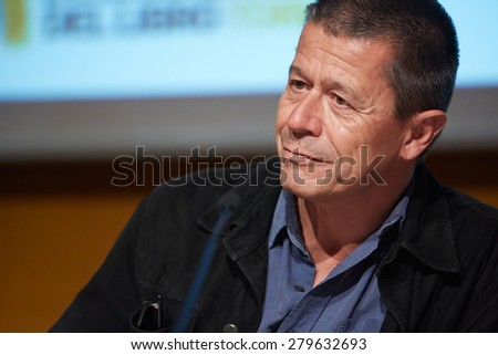 TURIN, ITALY - MAY 16: Writer Emmanuel Carrere at Salone del Libro, international book fair on May 16, 2015 in Turin.