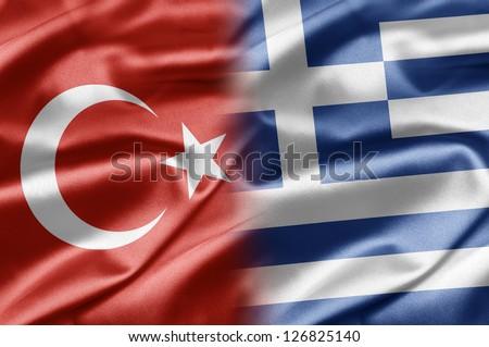 Turkey and Greece - stock photo
