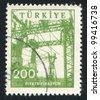 TURKEY- CIRCA 1960: stamp printed by Turkey, shows electrification, circa 1960 - stock photo