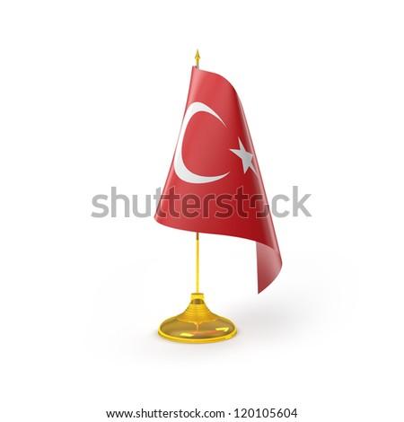Turkey Flag Detail Render - stock photo