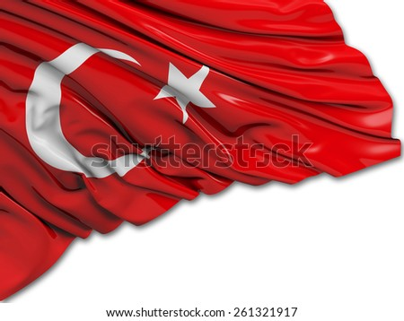 Turkey Flag with white