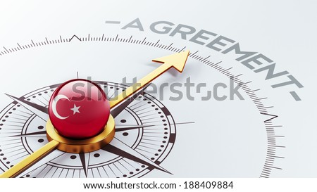 Turkey High Resolution Agreement Concept - stock photo
