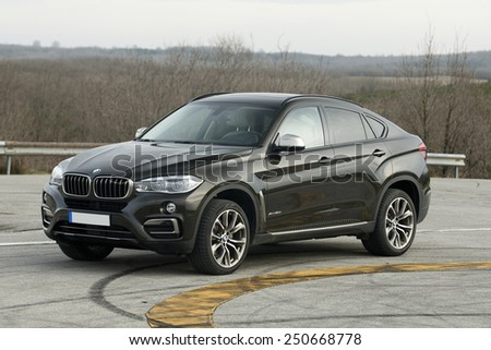 TURKEY - January:  New BMW X 6 on the static car. Turkey - ISTANBUL, January, 2015