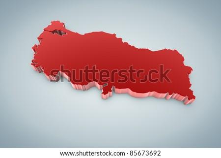 Turkey Map - stock photo