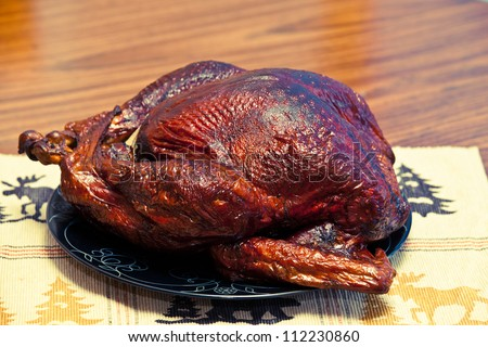 Turkey on Platter - stock photo