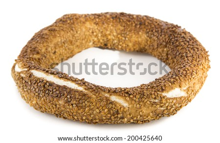 Turkish Bagel called simit consumed by big majority of local people