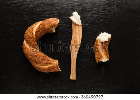 Turkish bagel / Cheese / Olive / Tomato - Simit