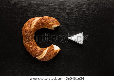 Turkish bagel / Cheese - Simit