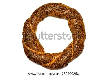 Turkish bagel, simit. - stock photo