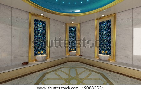 Turkish Bath Modern 3D Design And Rendering For Your Project By Sedat SEVEN