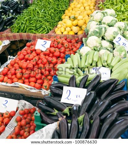 turkish bazaar - stock photo