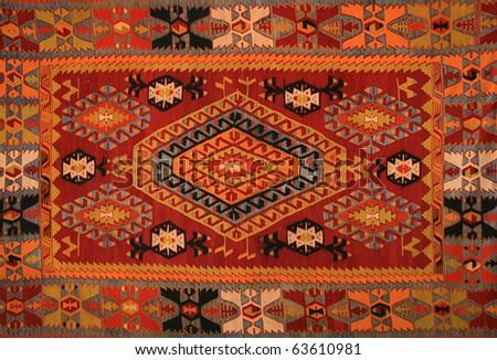Turkish carpet - stock photo