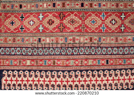 Turkish Carpet Background - stock photo
