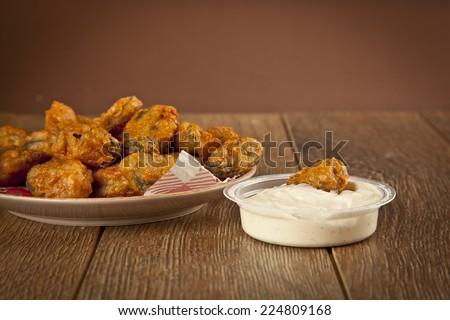 Turkish chop Fried mussels / Midye Tava - stock photo
