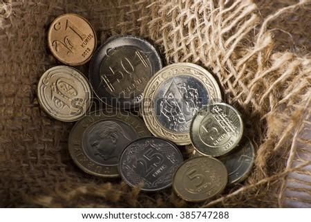 turkish coins - stock photo