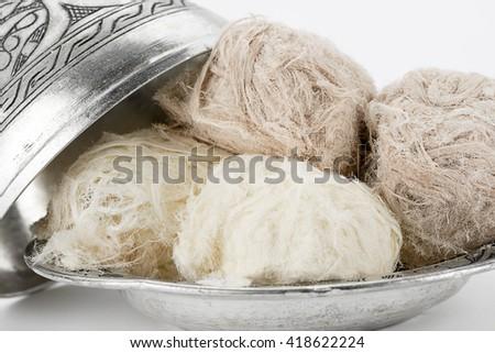Turkish Dessert Close up - stock photo