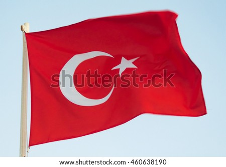 Turkish flag in the wind