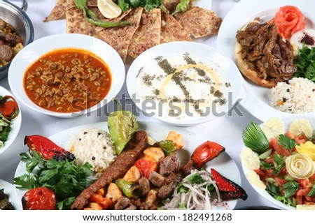 turkish food - stock photo