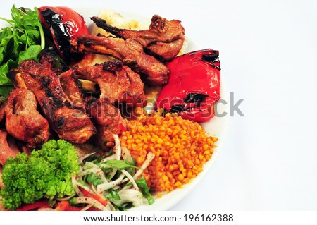 turkish kebab - stock photo