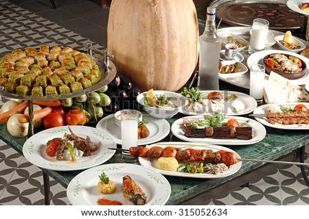 Turkish Kebab, Turkish cuisine - stock photo