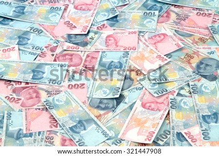 Turkish Lira banknotes ( TRY or TL ) 100 TL and 200 TL