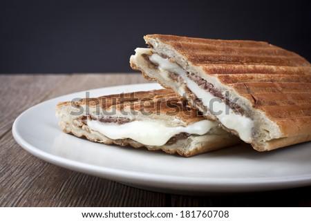 Turkish Meat Cheese Toast - stock photo