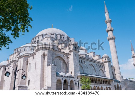 Turkish mosque dome - stock photo