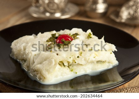 Turkish Ramadan Dessert Gullac - stock photo