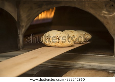 Turkish traditional tortilla.It is name lavas bread.Making bread