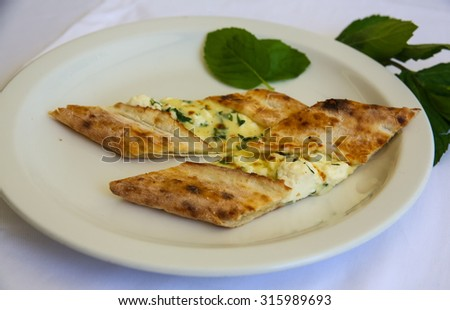 Turkkish cheese pie with herbs and spices