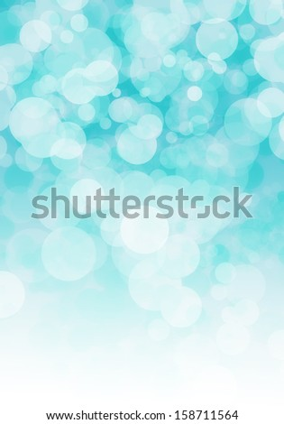 turkuaz bokeh circles abstract light background