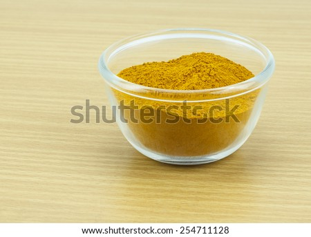 Turmeric (Curcuma longa L.) turmeric powder for alternative medicine ,spa products and food ingredient. - stock photo